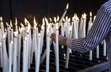 Candles lit lourdes - 159616304