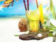 Quadro Ipanema un Capirinha Cocktail am Strand