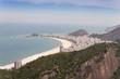 Quadro Rio Sicht vom Zuckerhut auf die Copacabana