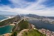 Quadro Ausblick vom Zuckerhut auf Rio Gondel Seilbahn Strände Buchten Copacabana