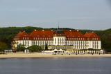 Zabytkowy budynek nadmorskiego kurortu Sopot w Polsce