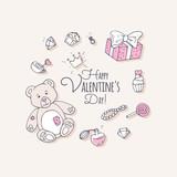 Valentines day hand drawn clip art