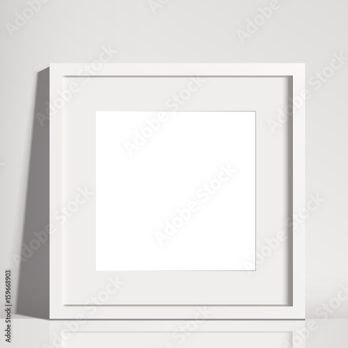 Realistic White Square Matted Picture Frame Mockup | Buy Photos | AP ...