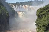 The Iguazu Falls, Iguazú Falls, Iguassu Falls, or Iguaçu Falls, on the Iguazu River on the border of the Argentine province of Misiones and the Brazilian state of Paraná.
