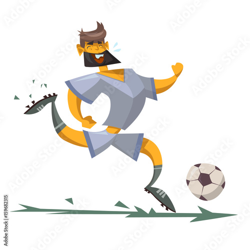 cartoon character of a soccer player - 159682315