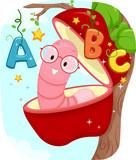 Education Apple Worm Alphabet