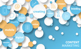 CONTENT MARKETING Vector Banner