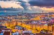 Lisbon, Portugal Skyline towards Tagus River.