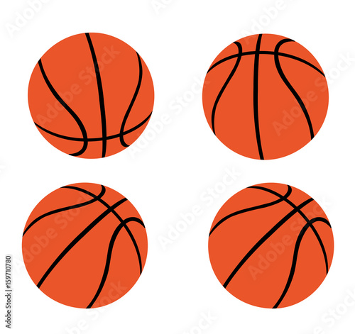 Set of Orange Basketballs