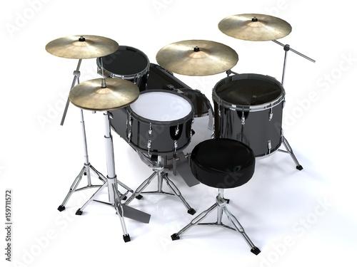 vista-posterior-de-renderizado-3d-de-tambor-negro
