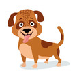 cartoon dog standing. vector illustration - 159719571