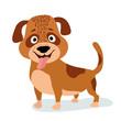 cartoon dog standing. vector illustration - 159719571