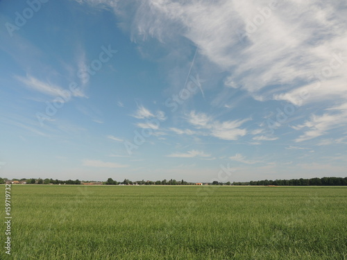 Aluminium Blauwe jeans Sommerhimmel am Niederrhein