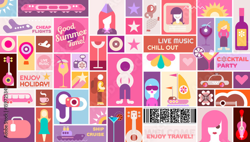 Fun Travel poster template design