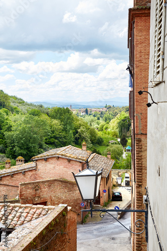 Beautiful street of Siena Poster