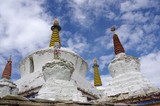 Stupas in Lamayuru in Ladakh, India