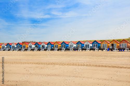 Poster Noordzee Am Strand von Zeeland