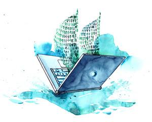 laptop © okalinichenko
