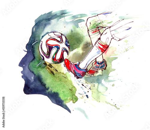Foto op Canvas Schilderingen football
