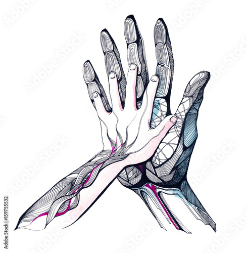 Spoed canvasdoek 2cm dik Schilderingen hands