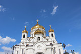 Moscow,The Cathedral of Christ the Saviour,spring.