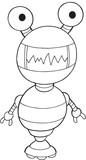 Robot  Illustration Art Wall Sticker
