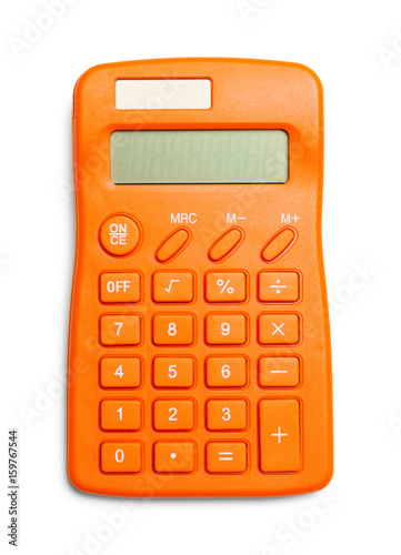 Orange Calculator Top View Off - 159767544