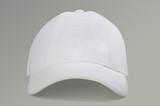 Fototapety white baseball cap on gray background