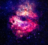 Nebulae and many stars in outer space. Elements of this image furnished by NASA
