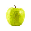 Vector polygonal apple - 159783344