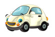 Cartoon city car smiling and looking - illustration for children