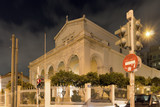 ATHENS, GREECE - JANUARY 20, 2017: Night photo of Agios Dionysios Areopagitis Catholic Cathedral in Athens, Attica, Greece