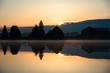 Sunrise reflected on a lake