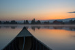 Morning peace in a canoe