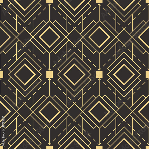Abstract art deco seamless pattern