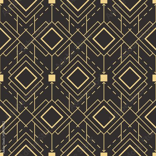 Fototapeta Abstract art deco seamless pattern