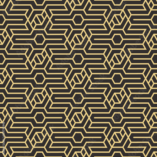Naklejka Abstract art deco seamless pattern