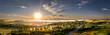 Aerial Morning Sunrise on the Horizon