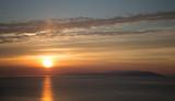 Sunrise. baikal