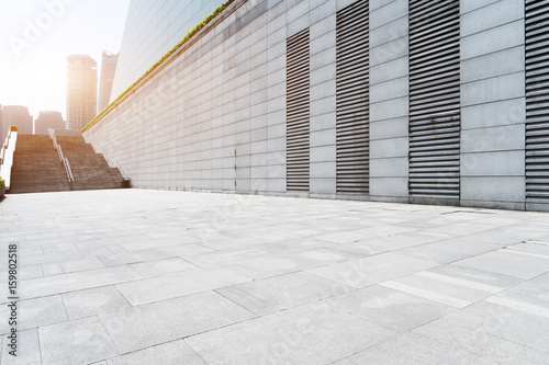 wall of modern building in city - 159802518
