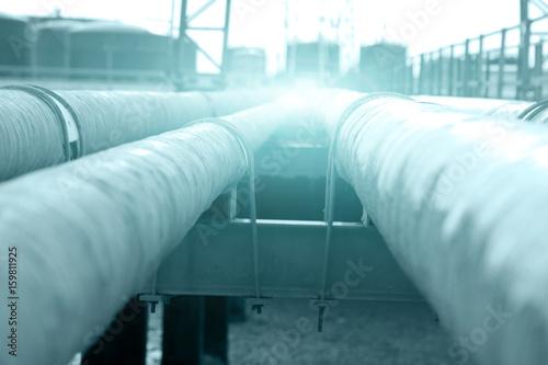 Fotobehang Koraalriffen Oil pipeline