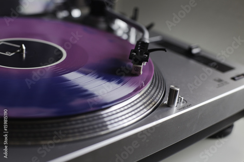 Purple Record spinning in record player