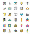 icons set Creativity draw icon vector illustration design graphic