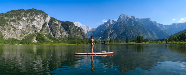 Stand up paddling am Almsee