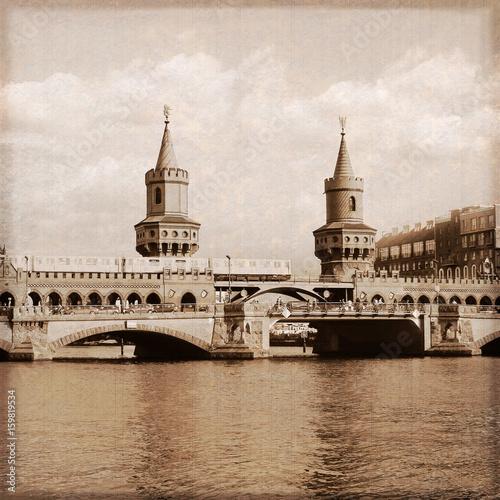 Berlin / Oberbaumbrücke / Old photo effect