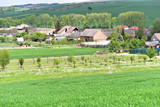 Village and farms in South Moravia, Czech Republic