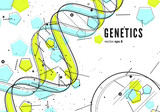 DNA, genetic conceptual background - 159825391