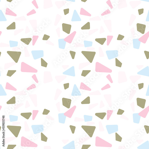 Modern vector seamless pattern with  abstract geometric shapes.