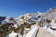 View of the city of Oia on the island of Santorini in Greece