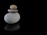 Zen stones calm rocks mindfulness  Spa in stack - 159849135